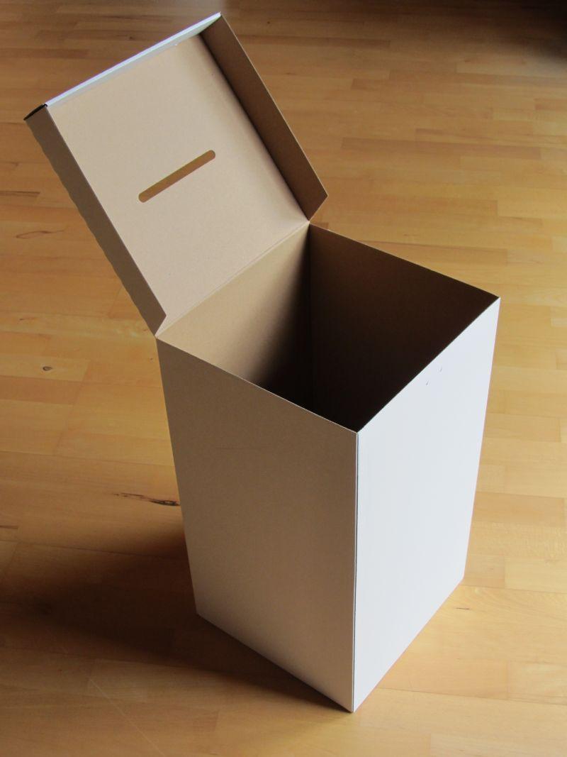 5er pack wahlurne aus karton pappe standard 55 cm wahlurnen. Black Bedroom Furniture Sets. Home Design Ideas