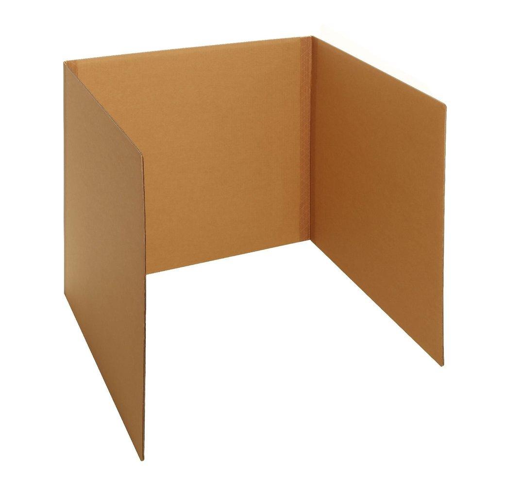 Tisch Aus Pappe tisch-wahlkabine aus karton/pappe 80 cm - wahlurnen-shop.de