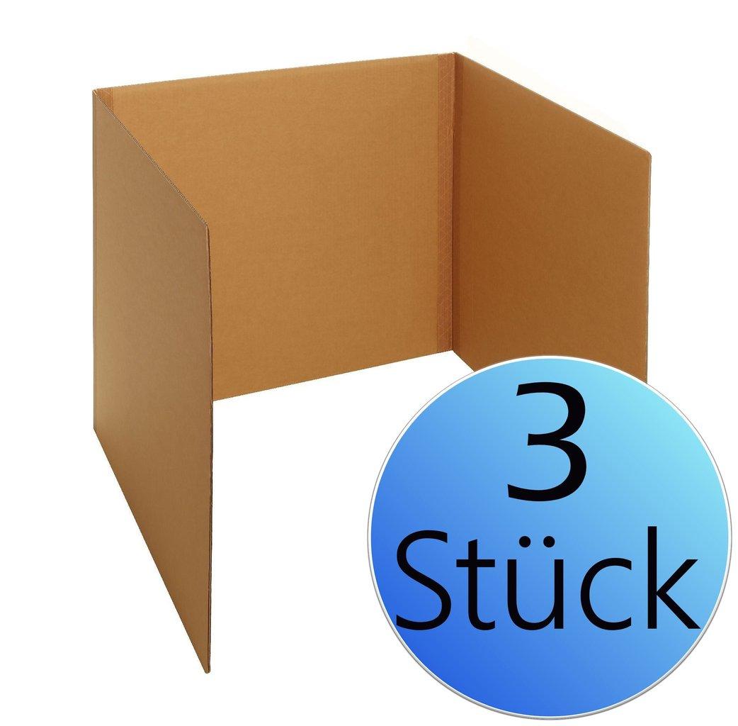 3er Pack Tisch Wahlkabine Aus Karton Pappe 80 Cm